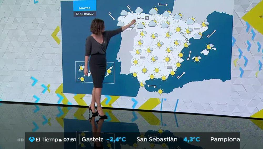 Precipitaciones intensas y fuertes rachas de viento en Galicia