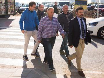 Llegada a la Ciudad de la Justicia de Antonio Sánchez el pocero