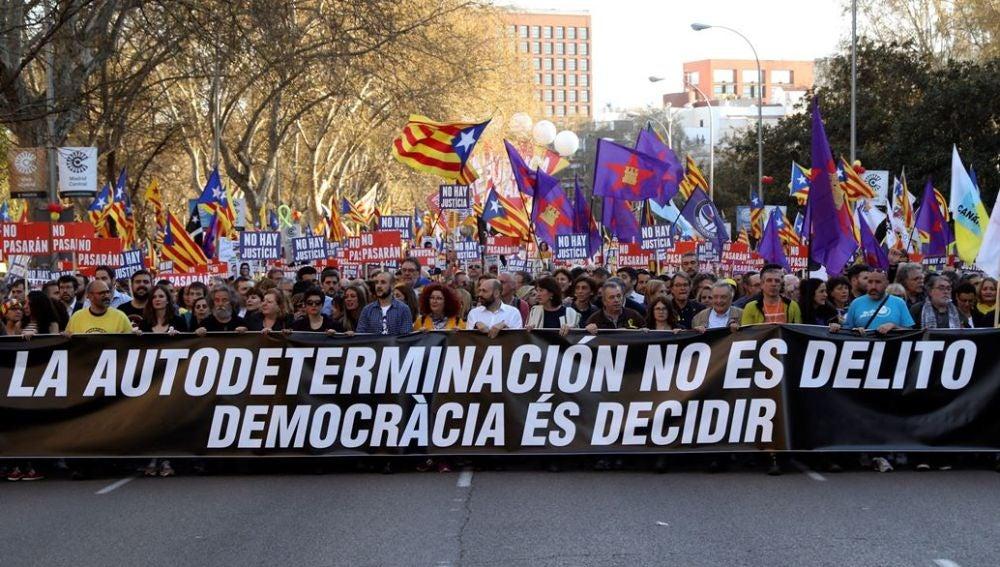 Manifestación por la autodeterminación en Madrid