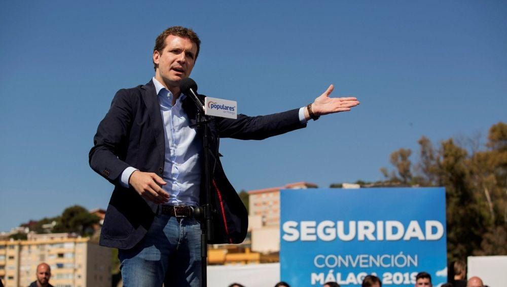 Pablo Casado en un acto en Málaga
