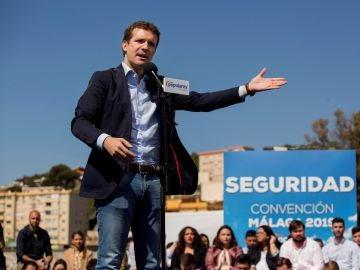 Imagen de archivo de Pablo Casado en un acto en Málaga