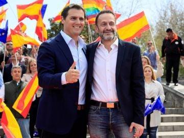 Albert Rivera junto a Edmundo Bal en un acto en Madrid