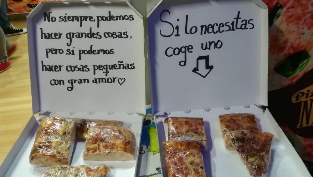 Pizza gratuita para los más necesitados
