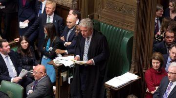 El presidente de Cámara de los Comunes John Bercow