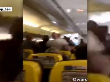 Le muerde la nariz en pleno vuelo Glasgow-Tenerife Sur