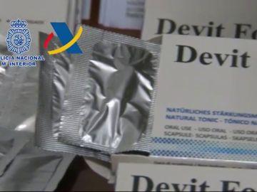 Intervenidas 400.000 dosis de complementos nutricionales adulterados