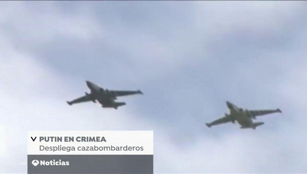 Rusia despliega cazabombarderos nucleares en Crimea en respuesta al sistema de antimisiles que Estados Unidos instaló en Rumanía