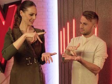 VÍDEO: Eva González aprende a cantar en lenguaje de signos