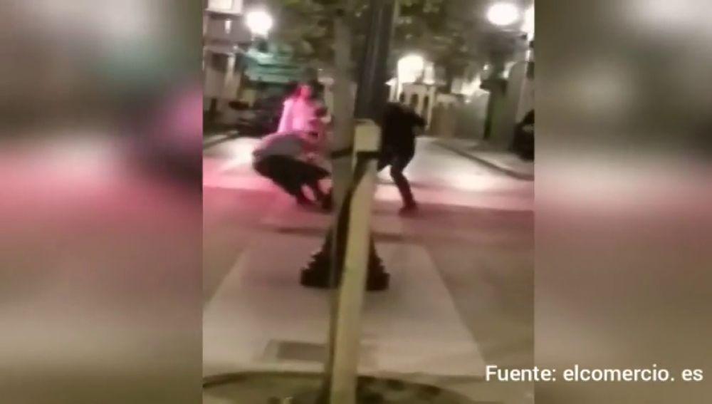 Agresión en Gijón