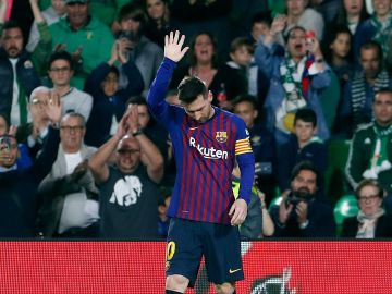 Messi, ovacionado por el Villamarín