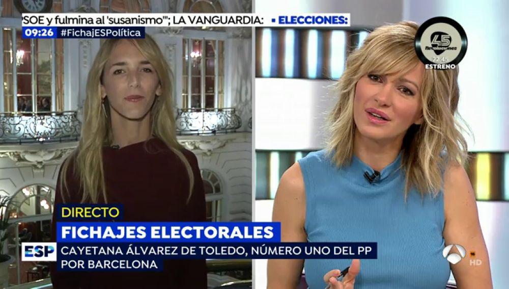 Cayetana Álvarez de Toledo, número 1 del PP por Barcelona