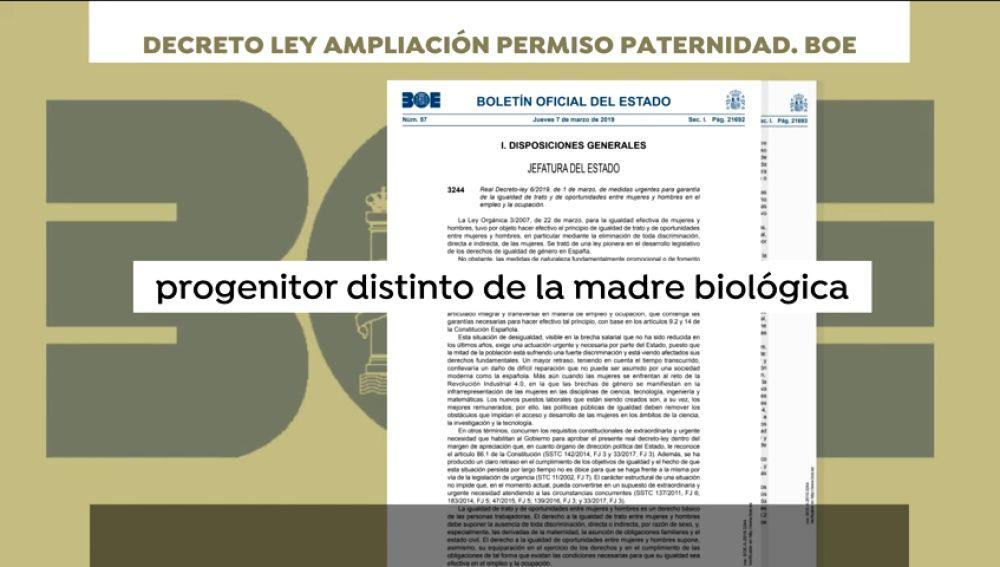 """Las nuevas definiciones que el BOE recoge sobre la maternidad y la paternidad: """"Progenitor diferente de la madre biológica"""""""