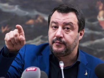 El viceprimer ministro italiano y líder de la Liga, Matteo Salvini