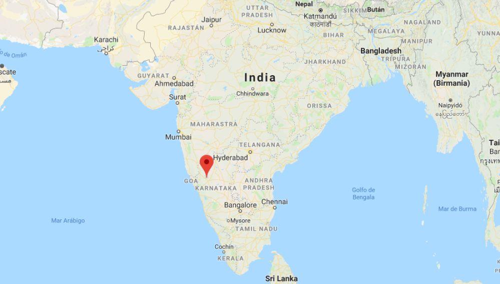 Distrito de Dharwad, donde se ha derrumbado un edificio en la India