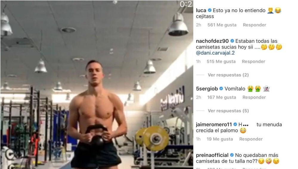 Lucas Vázquez en el gimnasio