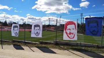 Los rostros de Simeone en el entrenamiento
