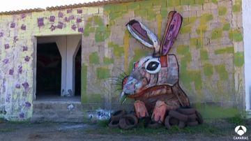 Basura y desechos se convierten en obras de arte