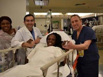 Thelma Chiaka, mujer que ha dado a luz a 6 bebés en 9 minutos