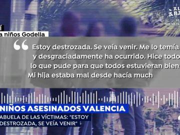 """La abuela de los niños asesinados en Godella presuntamente por su madre: """"Esto se veía venir, mi hija estaba mal desde hace tiempo"""""""