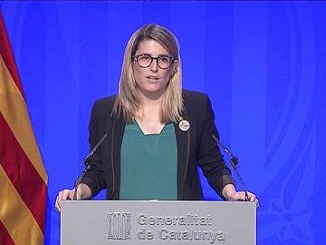 Pulso de Torra a la Junta Electoral: no retirará el cartel con el lazo amarillo de la Generalitat
