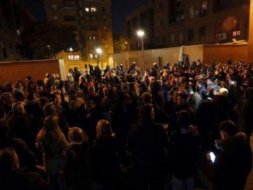Disturbios y cargas policiales en Vallecas
