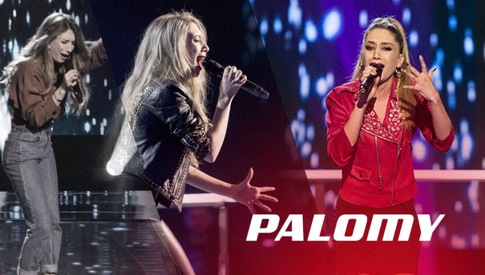 VÍDEO: Así han sido las actuaciones de Palomy en 'La Voz'