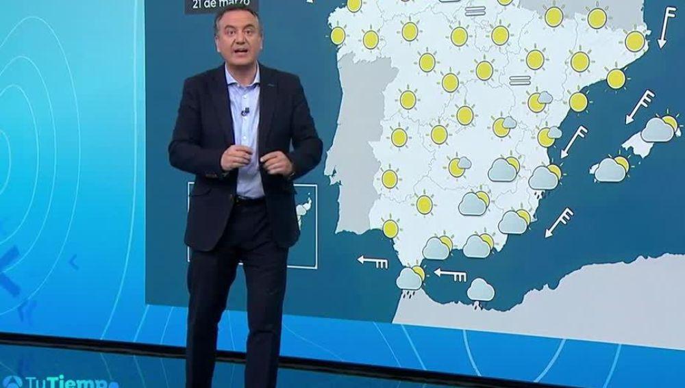 La primavera comienza con un ligero ascenso de las temperaturas diurnas en la Península y Baleares