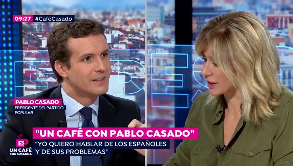 """REEMPLAZO Pablo Casado: """"Vox habla de llevar armas por la calle y Pedro Sánchez habla de Franco.Yo quiero hablar de empleo"""""""