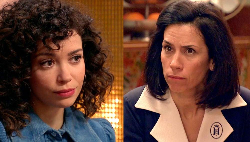 Amelia y Manolita intentan mediar entre la cabezonería de Luisita y Marcelino