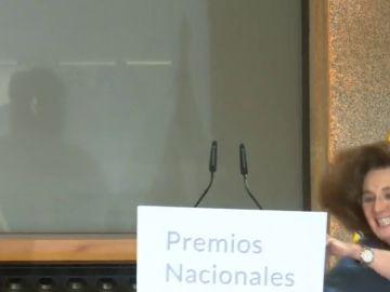La aparatosa caída de Blanca Berasategui en los Premios Cultura