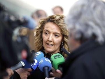 La candidata del PP a la Presidencia del Principado, Teresa Mallada
