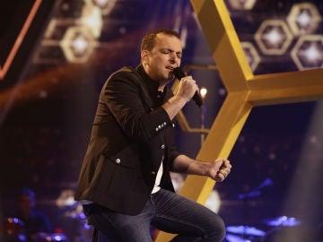 Javi Moya canta 'Si tú no estás aquí' en los Directos de 'La Voz'