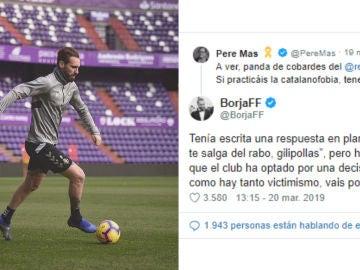 Borja, jugador del Valladolid