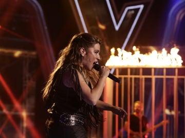 Viki Lafuente canta 'Livin' on a prayer' en los Directos de 'La Voz'