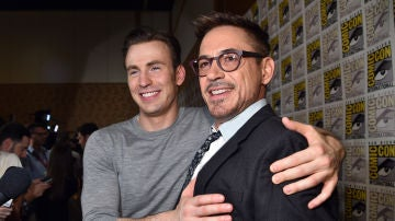 Robert Downey Jr. y Chris Evans