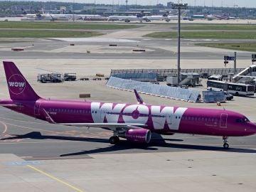 Un avión de la aerolínea Wow Air