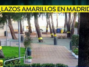 Lazos amarillos en Madrid
