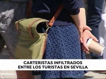 La policía alerta del aumento de carteristas en Sevilla