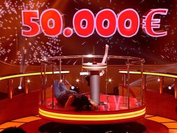 Los grandes deportistas españoles le dan 50.000 euros a Vanessa en 'Juego de juegos'