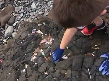 Niños de primaria aprenden a mantener limpio el entorno