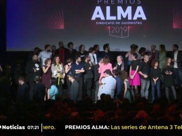 Éxito de Atresmedia en los premios ALMA del Sindicato de Guionistas