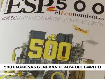 el 40% del empleo lo generan 500 empresas españolas