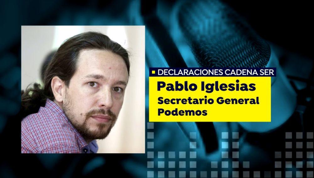 """Pablo Iglesias: """"hay una operación para evitar que Podemos forme parte del Gobierno"""""""