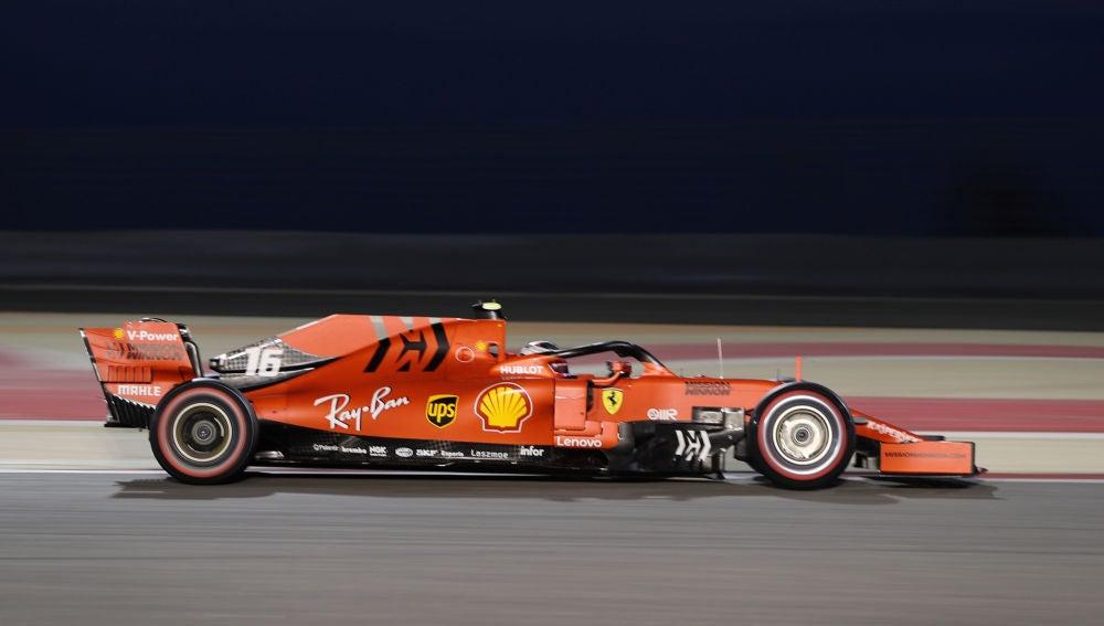 Charles Leclerc, durante la clasificación del GP de Baréin