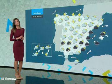 Las lluvias se extienden el domingo a toda la mitad sureste peninsular y Baleares