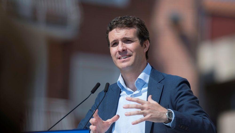 El presidente del Partido Popular y candidato a la Presidencia del Gobierno Pablo Casado