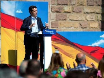 Pablo Casado durante un acto en Torrelavega