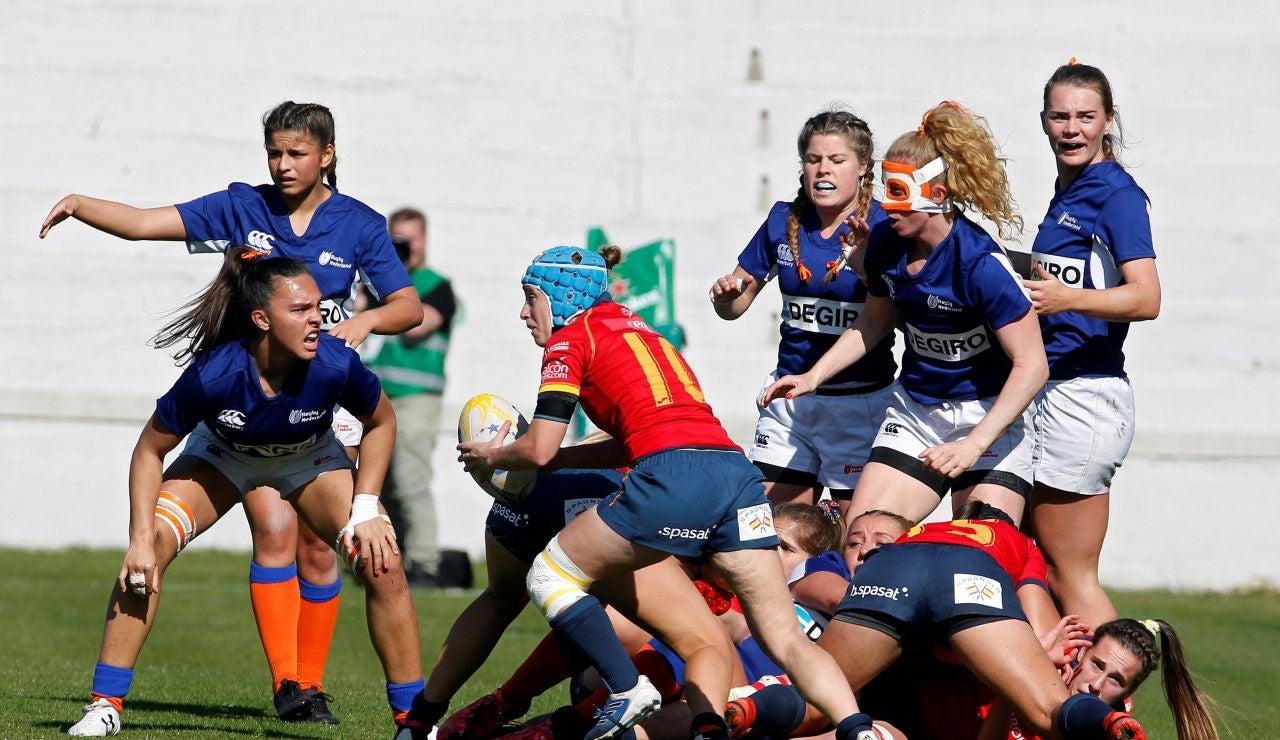 Momento de la final del campeonato de Europa femenino entre España y Países Bajos
