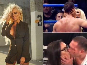 La respuesta de la novia de Pulev al beso de su novio a una periodista
