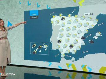 Las lluvias persisten el lunes en la mitad este peninsular y Baleares